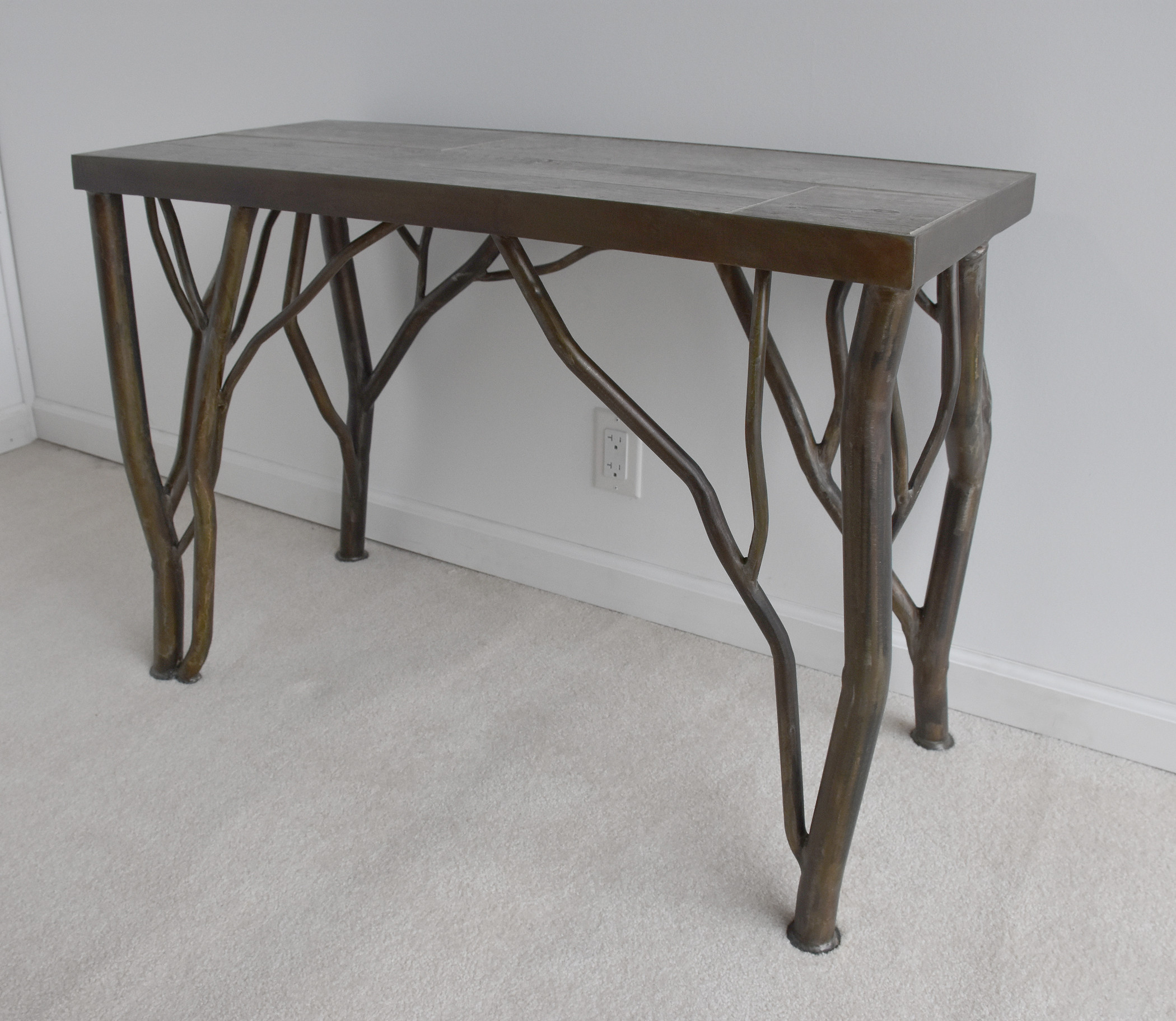 Nollette Metal Works Steel Branch Wall Table With